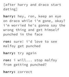 Drarry and Ron. Harry Potter Texts, Harry Potter Ships, Harry Potter Universal, Harry Potter Fandom, Harry Potter Hogwarts, Drarry, Solangelo, Harry Potter Draco Malfoy, Fandoms