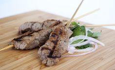 Thai Grilled Beef Skewers / @DJ Foodie / DJFoodie.com