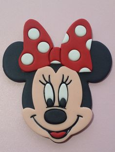 Pink or Red bow Minnie mouse cake topper van snips36 op Etsy