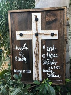 Excited to share this item from my etsy shop: a cord of three strands is not easily broken sign, wedding scripture, wedding verse, rustic wedding sign, a cord of three strands diywedding 539587599107472915 Lilac Wedding, Diy Wedding, Wedding Colors, Wedding Events, Wedding Day, Dream Wedding, Wedding Ceremony, Garden Wedding, Wedding Hacks