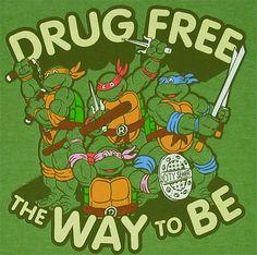 Drug Free Straight Edge Ninja Turtles