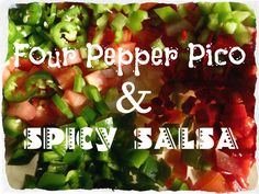 Four Pepper Pico & Spicy Salsa from Jilll's Kitchen