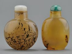"""Chinese """"Shadow"""" Agate Snuff Bottles"""