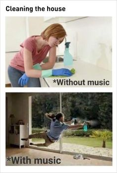 Clean with music