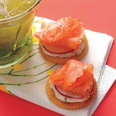 Celebrate Derby Day with these rosy-pink smoked-salmon canapes.