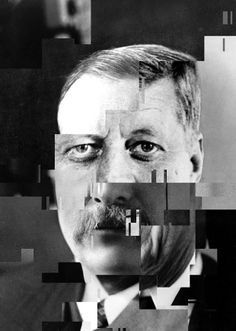 Olivier Ratsi ~ Once Upon a Time the Presidents #8 (Deconstruction Time, Again) — with Theodore Roosevelt, John F. Kennedy and Ronald Reagan via ratsi.com *part of ANTIVJ label* moments reflecting the temporal plurality in a still picture… The rectangular fragment becomes the core material of the work.
