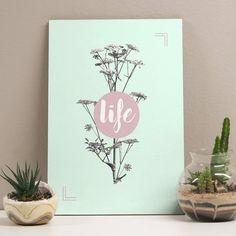 quadro decorativo life pastel