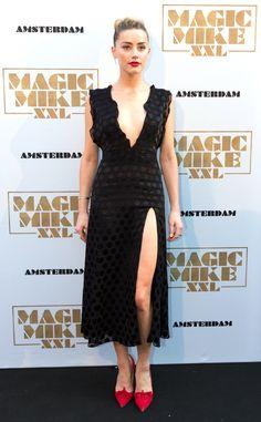 Amber Heard wearing Cushnie Et Ochs Resort 2016 dress. Magic Mike XXL Amsterdam premiere, 2015
