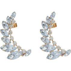 Accessorize Ornate Petal Ear Cuff (17 NOK) ❤ liked on Polyvore featuring jewelry, earrings, crystal, ear cuff earrings, sparkly earrings, sparkle jewelry, accessorize jewelry and cuff earrings