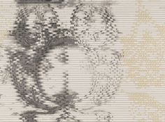 A deconstructed inky watercolour damask printed on luxury vinyl wallcovering, with a beautiful embossed finish. Embossed Vinyl Wallcovering Designer Fabrics & Wallcoverings, Upholstery Fabrics