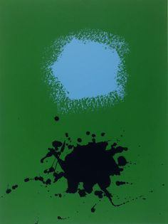 'Blues on Green' (1971) by Adolph Gottlieb