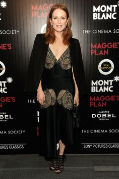 Julianne Moore wearing Stella McCartney at the Maggie's Plan screening in New York
