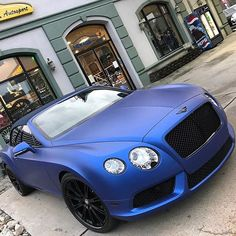 Follow @newageautosport @newageautosport. Bentley GT Wrapped Brilliant Matte Blue W/ Black Out Package. @newageautosport One Stop Premier Car Restyling Shop @newageautosport @newageautosport @newageautosport