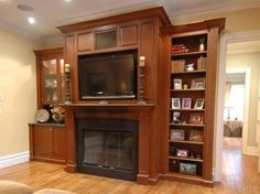 Gas fireplace and home entertainment center