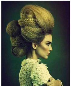 Crimped & twisted hair updo Crazy Hair, Big Hair, Creative Hairstyles, Up Hairstyles, High Fashion Hair, Twisted Hair, Avant Garde Hair, Runway Hair, Crimped Hair