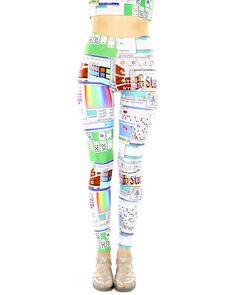 OMG!!!!! Check out what I found on Shop Jeen.com!!! What do you think?!?! WINDOWS 95 LEGGINGS