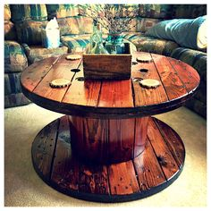 Rustic chic coffee table!