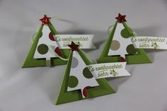 StampinFantasy: Alle guten Dinge ... Stampin Up, Triangle, Christmas Ornaments, Holiday Decor, Winter, Home Decor, Good Things, Stamping, Dekoration