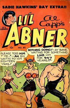 Sadie Hawkins day - Li'l Abner by Al Capp (before he went off the deep end)