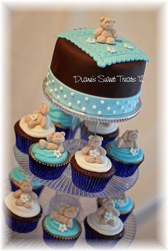 baby shower cupcakes  by Diane's Sweet Treats - (Diane Burke), via Flickr