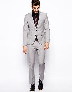 ASOS Damien Grey Selected Grey Suit In Skinny Fit (Jacket £95) (Trousers £55)