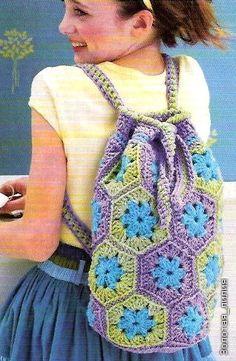 Crochet gold: Backpack!