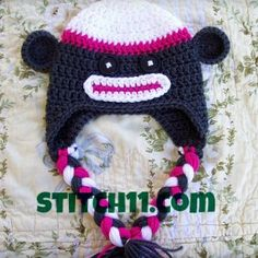 Top 10 animal crochet hats - free patterns @ The Yarn Box