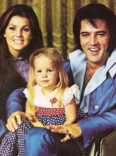 Elvis, Priscilla & Lisa Marie-I have always admired this picture, Lisa-Marie resembles my mom's childhood photos SO much from when she was about 4 yrs. old.