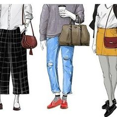 Chic #illustrations by @designxiety for an article about The 5 #Bottoms To Wear with #trending #shoes @instylemagazine  @ghbass #style #fashion #clothing #footwear #trend http://ow.ly/zZgl3062rnz