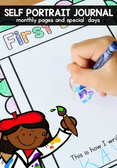Capture your preschool students' fine motor development and special memories throughout the year with a self portrait journal. Create it as a stand alone journal, or combine pages with a year long memory book.