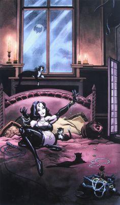 blackbatpurplecat:Artists: Tim Sale and Dave Stewart