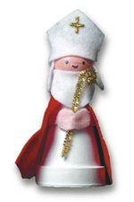 St. Nicholas figurine Make this decoration with a clay pot and a styrofoam ball for Saint Nicholas' head