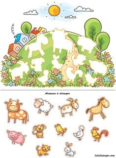 Buy Animals and Their Shapes Matching Game by katya_dav on GraphicRiver. Animals and their shapes matching game, colorful cartoon Preschool Learning Activities, Preschool Worksheets, Preschool Activities, Teaching Kids, Activities For Kids, Shape Matching, Matching Games, Kids Education, Kids And Parenting