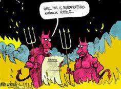 global warming hell cartoon