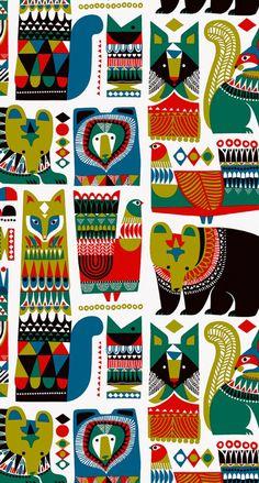 マリメッコ/動物 iPhone壁紙 Wallpaper Backgrounds and Plus Marimekko iPhone Wallpaper - Hanna Pulkkinen - Wallpapers Designs Art And Illustration, Pattern Illustration, Illustrations, Decor Photobooth, Textures Patterns, Print Patterns, Marimekko Wallpaper, Scandinavian Folk Art, Art Graphique