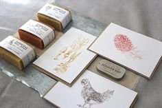 Bloom & Blush Gift Set! Hand-drawn notecards, Farmstead soaps and Herbal lip salve. Perfect for Valentine's!