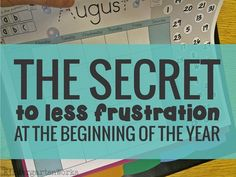 The Secret to Less Frustration at the Beginning of the Year (Kindergarten)