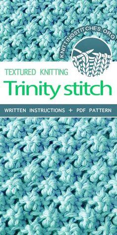 Knitting Stitch Patterns - Trinity Stitch. Knit a Stitch With Lots of Texture.