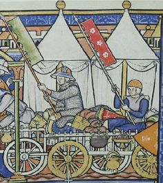 NIce tent in the Maciejovsky bible. 1250 ad, so not 12th century. But a nice inspiration.