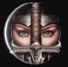 f Fighter Plate Armor Helm Sword portrait princess warrior Fantasy Warrior, 3d Fantasy, Woman Warrior, Viking Warrior, Fantasy Women, Warrior Princess, Writing Inspiration, Character Inspiration, Portrait Inspiration