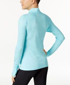 Ideology Rapidry Half-Zip Performance Pullover, Only at Macy's - Pink S