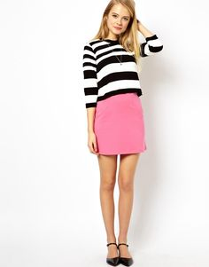 Stripes & bubblegum pink - pop!