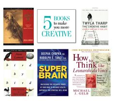 5 must-read books on how to be more creative. http://www.hithaonthego.com/reading-list-creativity/ #books