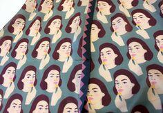 Karen Mabon's exclusive #Vogue100 lipstick scarf