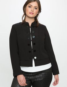 9004f49b036 View our Button Detail Military Jacket and shop our selection of designer  women s plus size Coats + Jackets