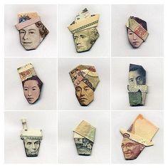 Folded Money Portraits