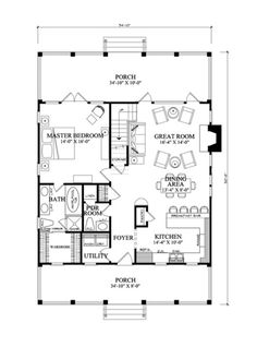 Farmhouse Style House Plan - 3 Beds 2.5 Baths 1738 Sq/Ft Plan #137-262 Floor Plan - Main Floor Plan - Houseplans.com. Main floor square footage: 1138