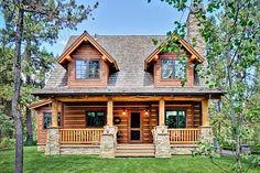 Love this home! Plan 1907-00005 3 Bedroom 2 Bath Log Home Plan