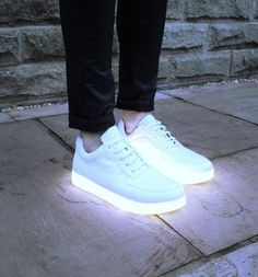 when you wear pure, white shoes out for the first time