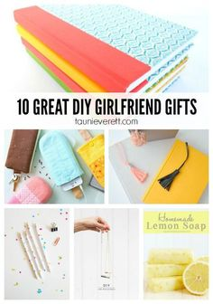 10 Great DIY Gifts for Girlfriends. Adorable gift ideas that can be made inexpensively + quickly.